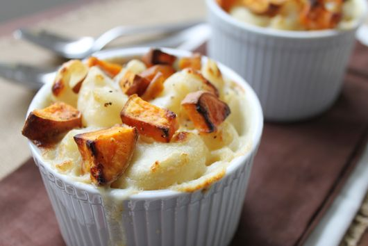Roasted Sweet Potato Mac N' Cheese