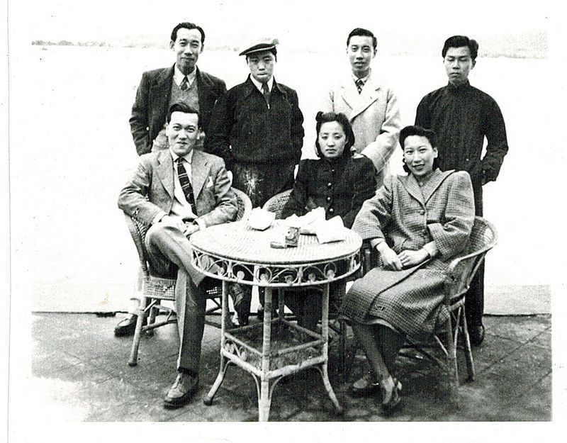 Joyce (center) and her in-laws in China in the 1940s. Courtesy Stephen Chen.