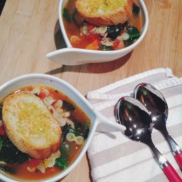 Hearty Winter Vegetable Minestrone with Parmesan Toast