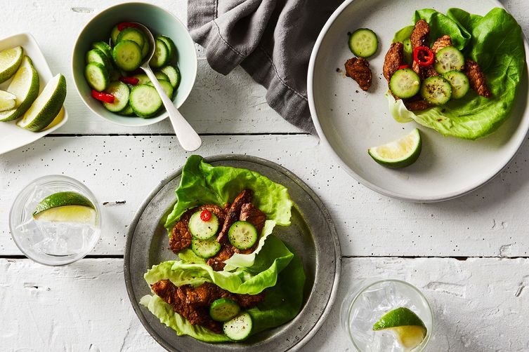 Colby Garrelts' Sweet & Sour Pork Loin Lettuce Wraps
