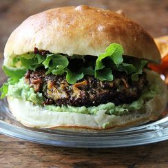 A Toasty, Summer-Ready Vegetable Burger That's Ready in a Jiffy