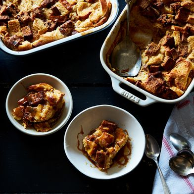 Julia Turshen's Angel Food Bread Pudding with Butterscotch Sauce