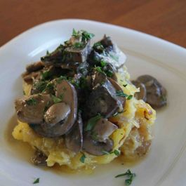 Roasted Spaghetti Squash with Herb Mushroom Sauce