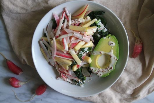 Chopped Radish Salad with Apples, Avocado and Kale