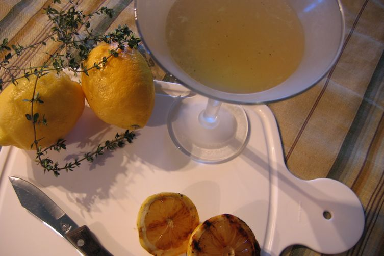 """Thyme for a """"Grilled"""" Lemon Martini"""