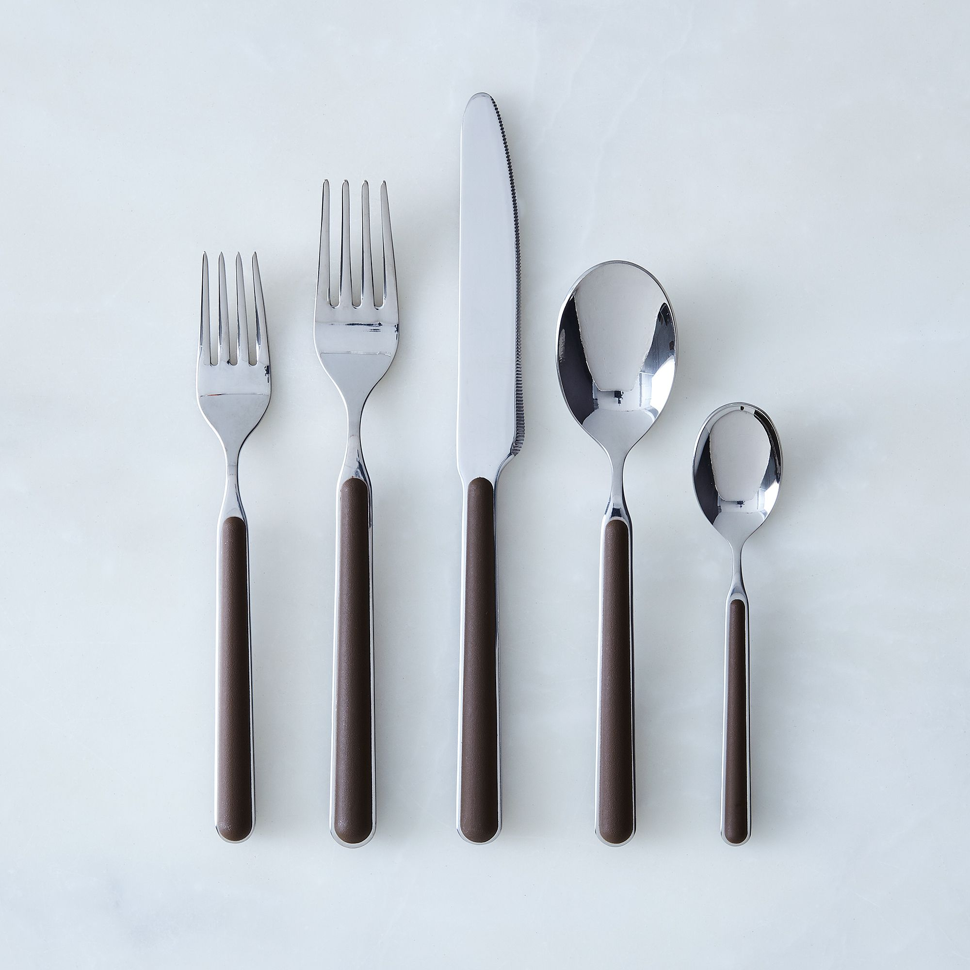 Italian Flatware, Fantasia (5-piece Flatware Place Setting) Brown