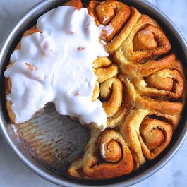 Whiskey Salted Caramel Cinnamon Rolls