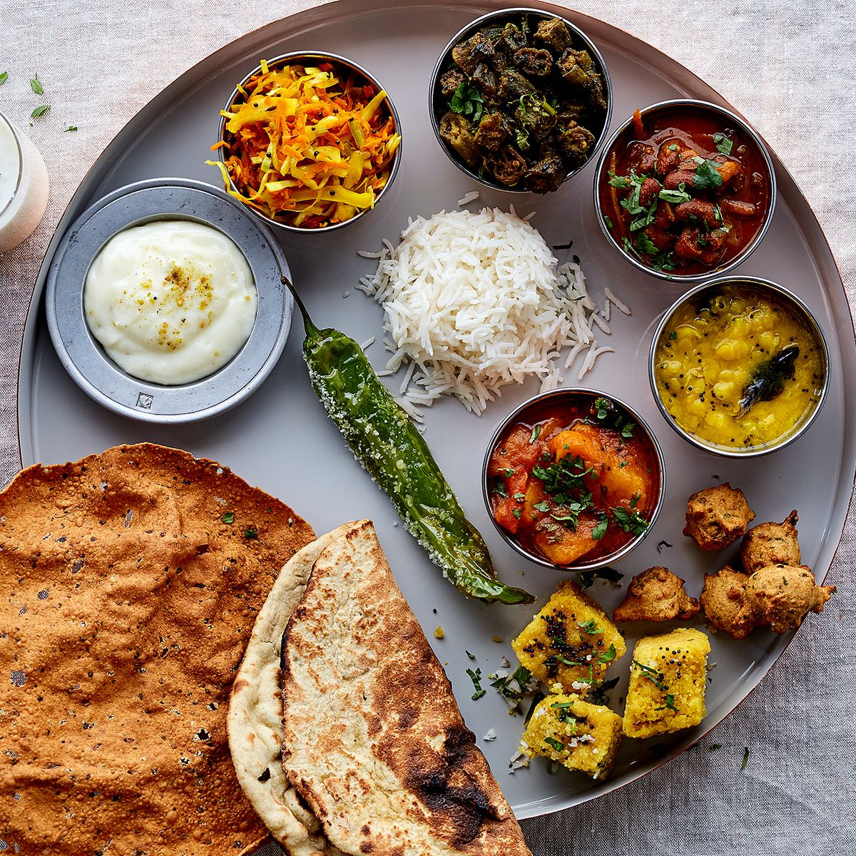 All About Indian Thali - How to Compose a Thali
