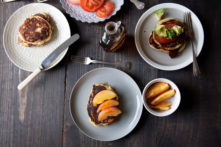 Cornmeal and Chorizo Pancakes