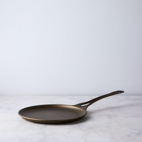 "Australian Solid Carbon Steel Griddle Pan, 9.5"""