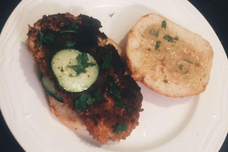 Israel-inspired Chicken Schnitzel Sandwich