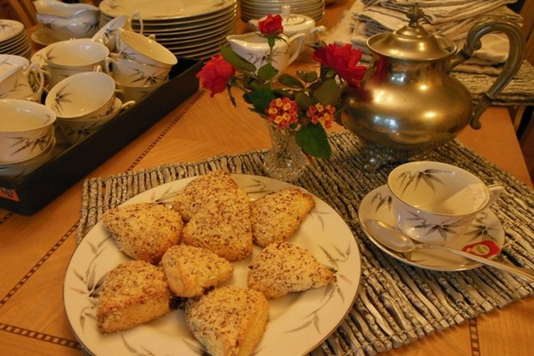 Cranberry, Orange & Almond Cream Scones