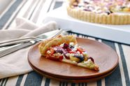 Tomato and Concord Grape Tart with a Cornmeal Black Pepper Crust