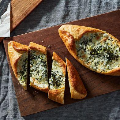 Green Khachapuri (Georgian Cheese Bread)