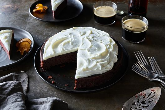 The Heady Chocolate Stout Cake We Can't Stop Gushing Over