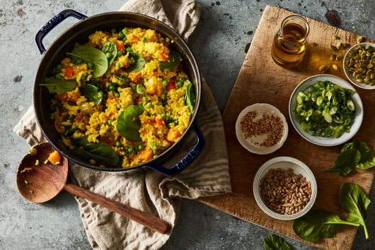 One-Pot Millet Pilaf With Vegetables & Turmeric