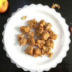 Gluten-Free Apple and Walnut Pakoda/Fritters