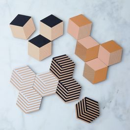 Optic Table Tile Coasters (Set of 12)