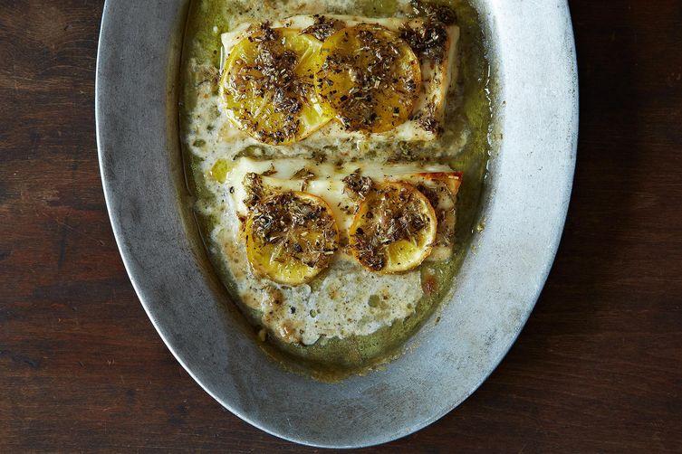 Grilled Lemon Halloumi
