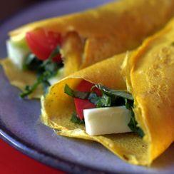 Crispy Vietnamese Veggie Crepes with Fresh Herbs