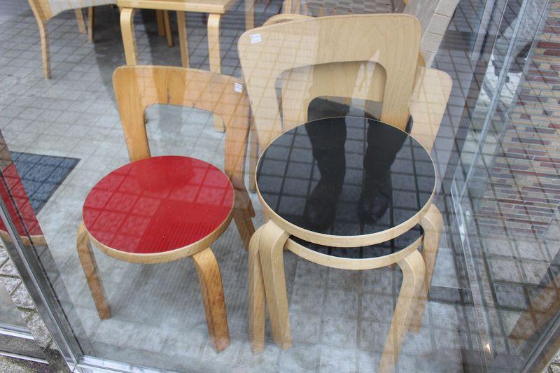 Artek chairs by the Aaltos at Tori in Kanazawa.