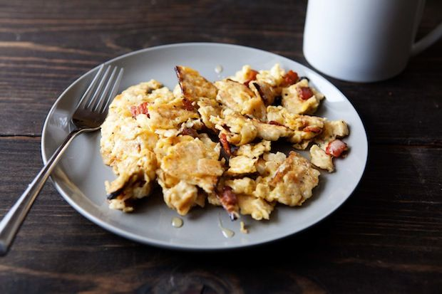Bacon matzo brei from Food52