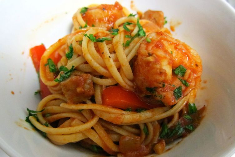 Cajun Crab and Shrimp Pasta