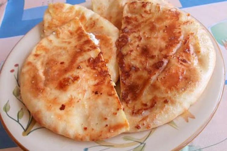 Breakfast Three Cheeses Stuffed Pita French Toast