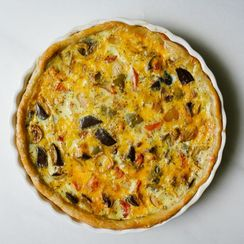 Roasted Summer Vegetable Quiche