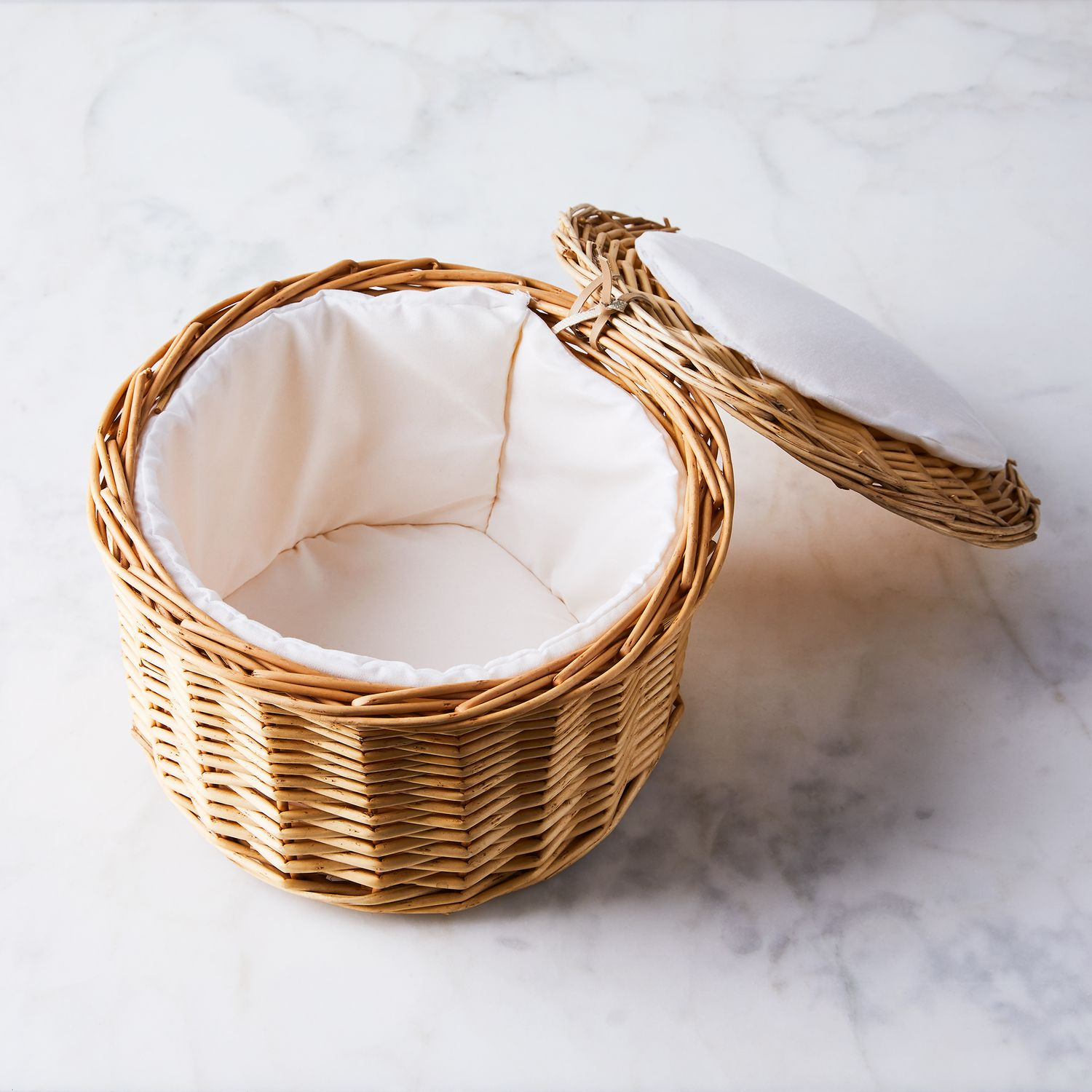 Fabric Lined Rattan Egg Basket On Food52