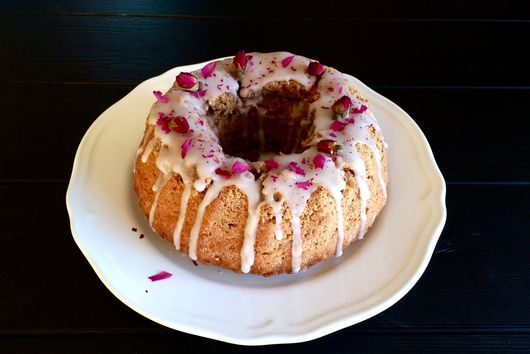 Apple-Spice & Rosewater Cake (Vegan-Friendly)