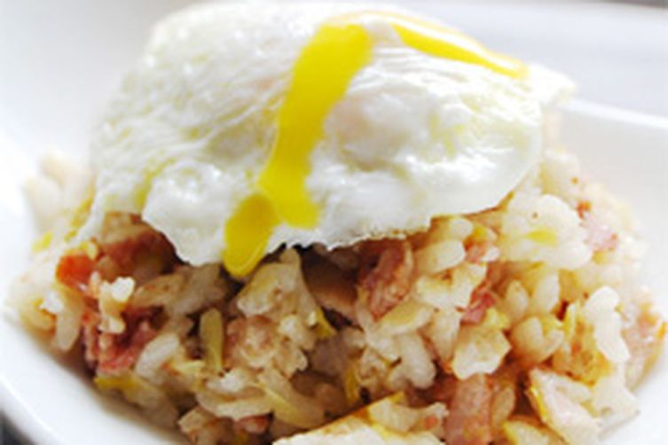 Bacon & Eggs Risotto Recipe on Food52