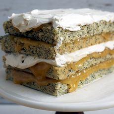Lemon Poppyseed Layer Cake with Whipped Yogurt Buttercream