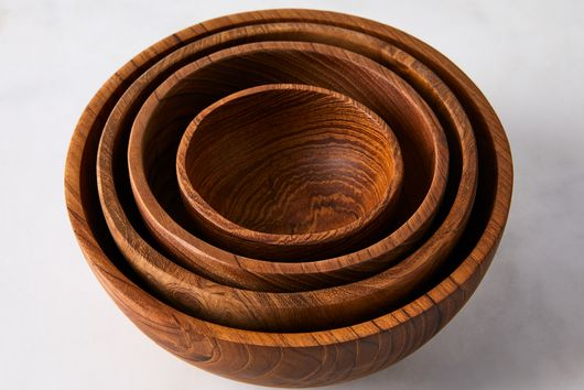 Teak Nesting Bowls (Set of 4)