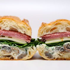 Mushroom Eggplant and Soppressata Sandwich