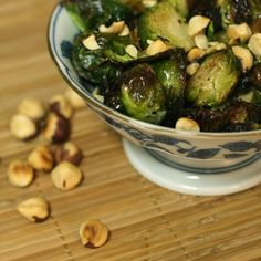 Roasted Brussel Sprouts with Toasted Hazelnuts