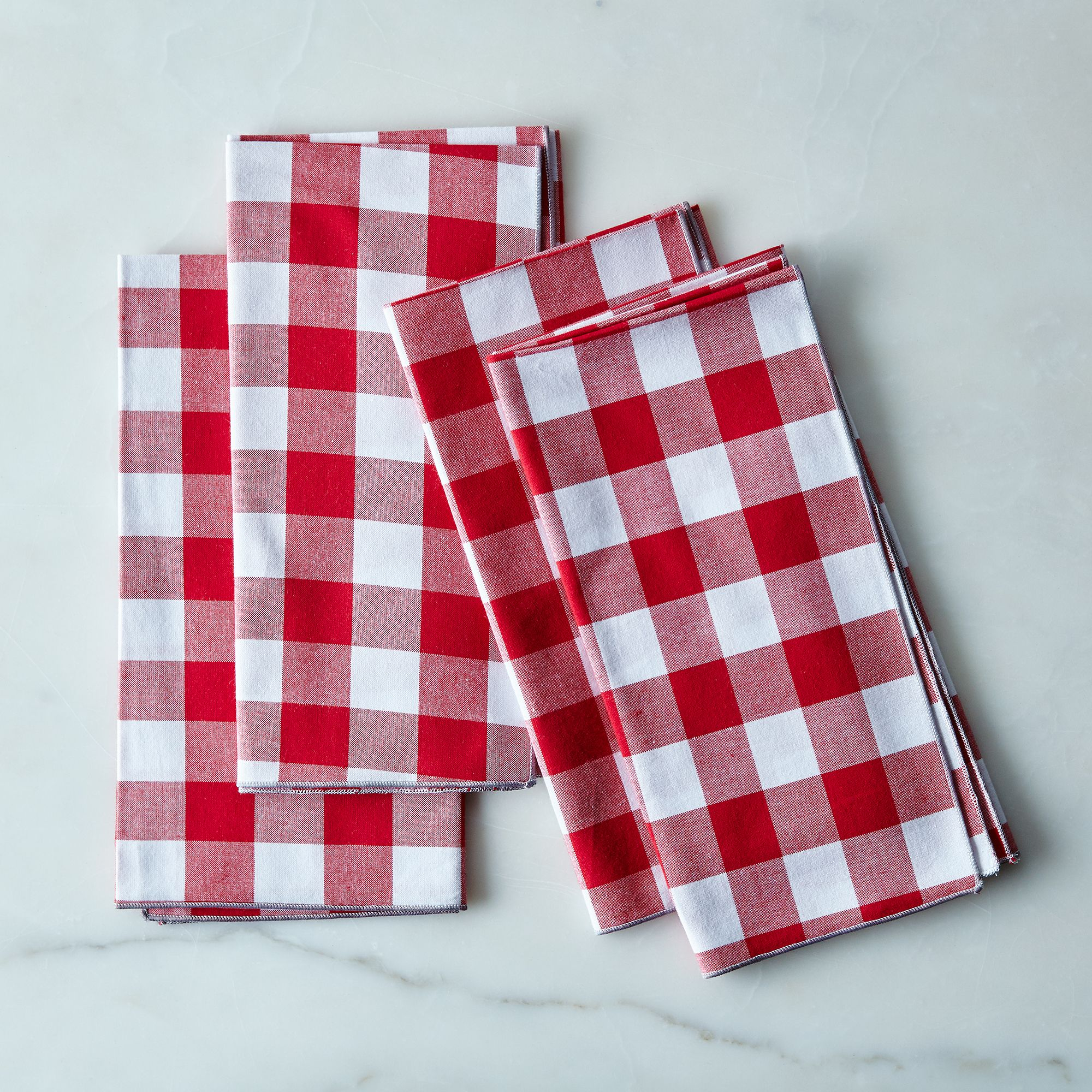 Gingham Cloth Napkins (Set of 4) - Red/White
