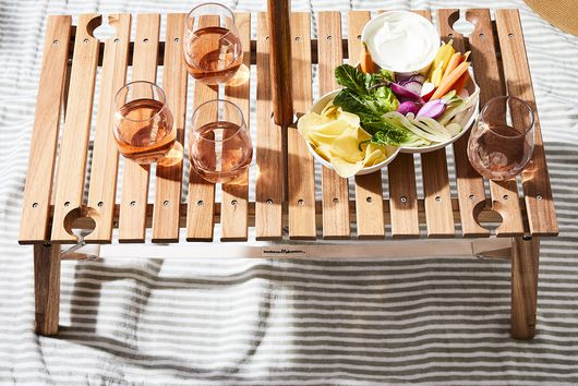 Portable Outdoor Teak Wood Table