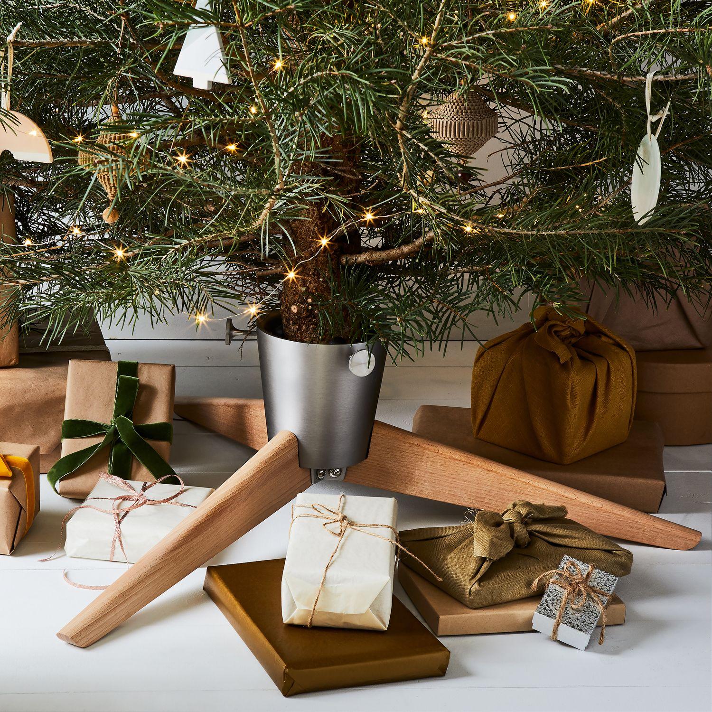 Stelton Collapsible Christmas Tree Stand, Beechwood on Food52