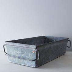 Vintage Zinc Bin