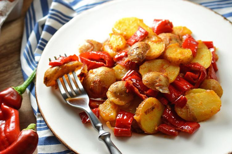 Zesty Potato and Pepper Hash