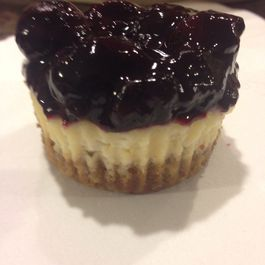 Mascarpone Cheescake Cupcakes with Blueberry Balsamic Compote