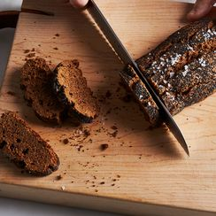 Twice-Baked Pumpernickel Crackers