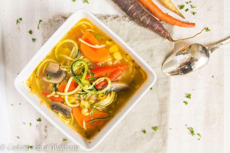 Farmer's Market Vegetable Noodle Soup