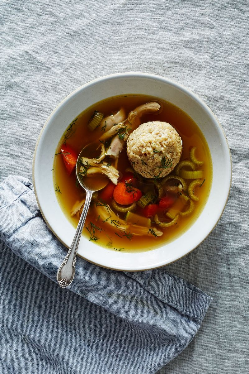 The perfect matzo ball: holds its shape, is still cloud-fluffy.