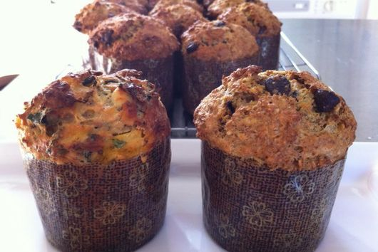 Squash, Kale and Cheese Muffins