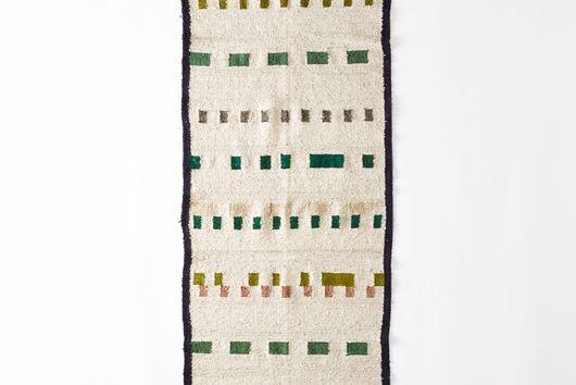 Handwoven Wool Wandering Mark Rug