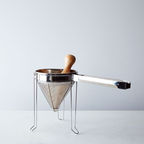 Cone Strainer & Wooden Pestle