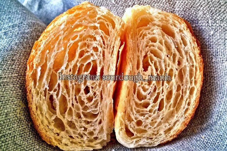 100% sourdough croissants (commercial yeast free)