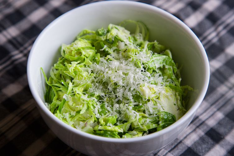 Shredded Raw Brussel Sprout Salad